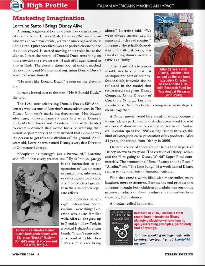 LS Profile Italian America Magazine